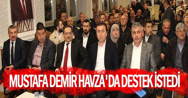 Mustafa Demir Havza'da çalışmalarını sürdürdü