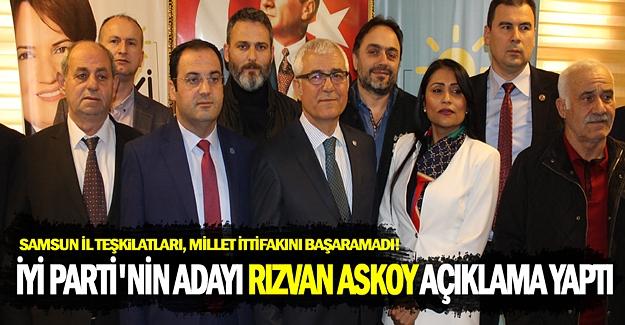 İYİ Parti Bafra Belediye Başkanı Rızvan Aksoy açıklama yaptı