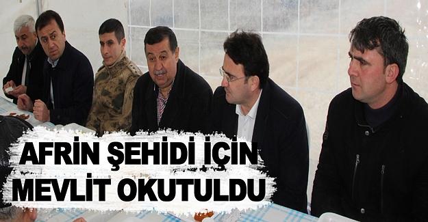 Samsun'da Afrin şehidi için mevlit okutuldu