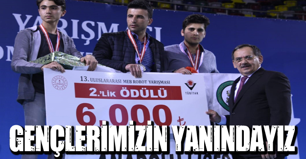 Mustafa Demir, gençlerimizin yanındayız!