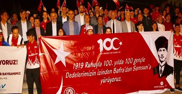 Bafra'da 100.Yılda yürüyüş