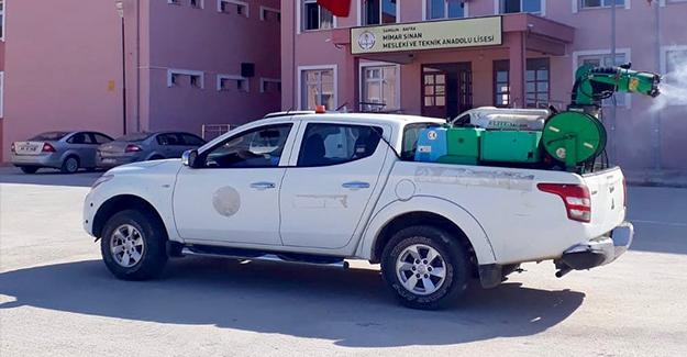 Bafra`da Okullarda Temizlik Çalışması