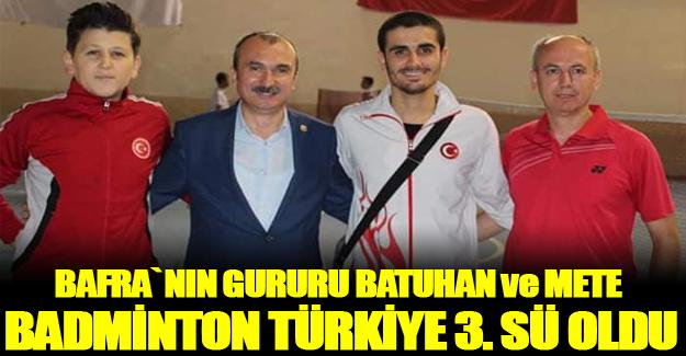 Batuhan Ve Mete Badminton Türkiye  3. sü