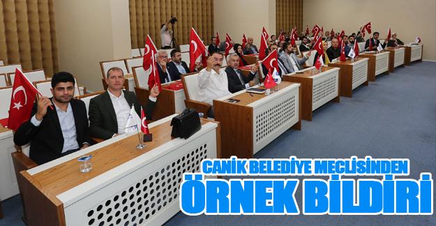 Canik Belediye Meclisinden Örnek Bildirimi