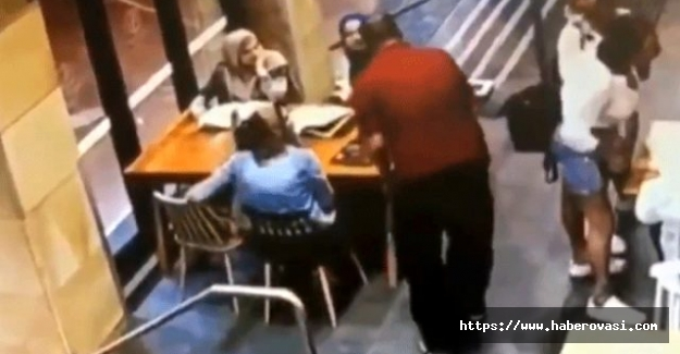 Hamile kadına acımasızca vurdu!
