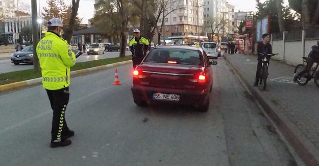 Bafra Trafiği Sürücüleri Denetledi