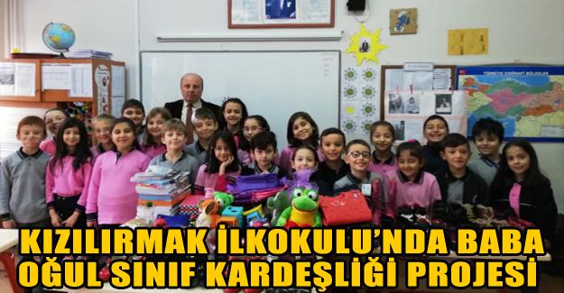 Kızılırmak İlkokulu'nda Baba Oğul Sınıf Kardeşliği Projesi