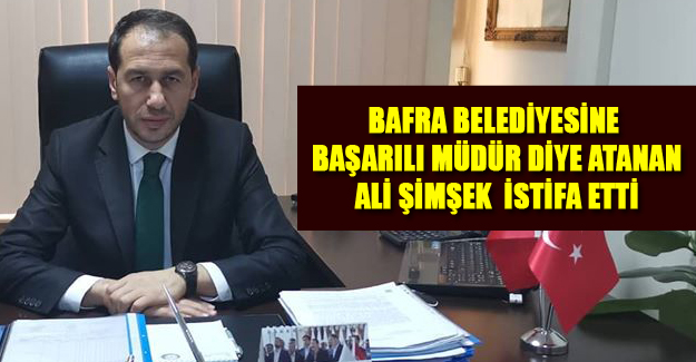 Bafra belediyesinde İstifa