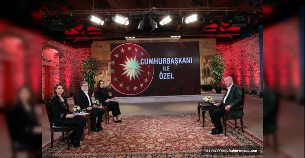Cumhurbaşkanı Erdoğan Canlı yayınına konuk oldu