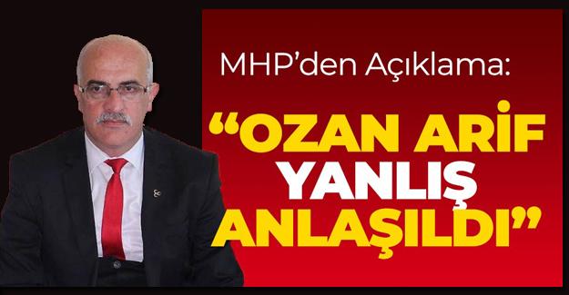 Bafra MHP'den Flaş Açıklama