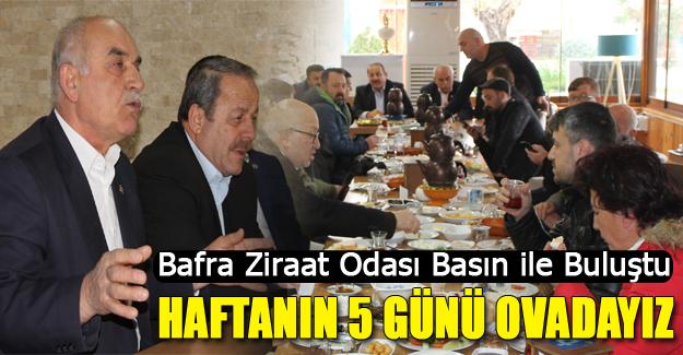 Bafra Ziraat Odası Basın ile Buluştu