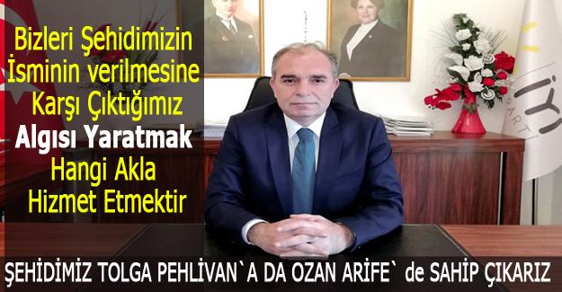 İYİ Parti İlçe Başkanı Aydoğan Yılmaz`dan Açıklama