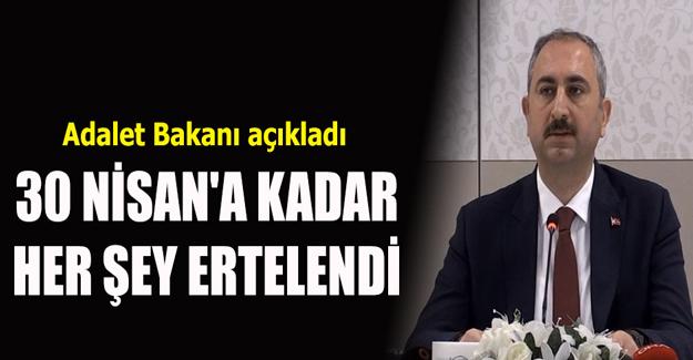Adalet Bakanı açıkladı!