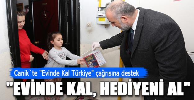 Canik`te Evinde Kal Türkiye çağrısına destek