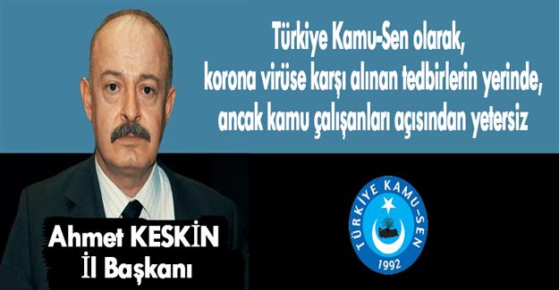Türkiye Kamu-Sen Samsun İl Başkanından açıklama