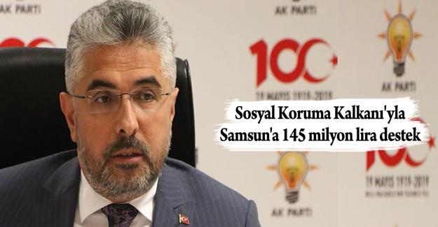 Samsun'a 145 milyon lira destek