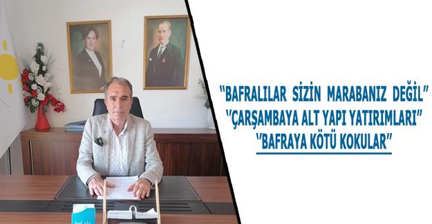 ''BAFRALILAR  SİZİN  MARABANIZ  DEĞİL''
