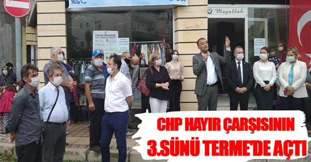 CHP Hayır Çarşısının 3.Sünü Terme'de Açtı