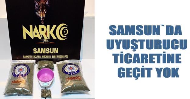 Samsun`da  Uyuşturucu Ticaretine  Geçit Yok