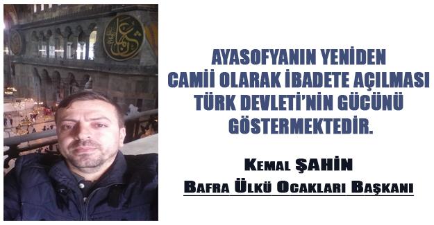 Ayasofya Türk Devletinin bağımsızlık sembollerindendir