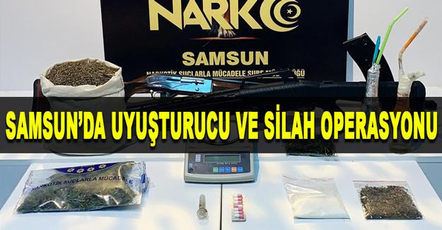 Samsun'da uyuşturucu ve silah operasyonu