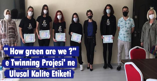 Atakum`da e Twinning Projesi' ne Ulusal Kalite Etiketi