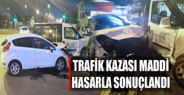 Bafra'da trafik kazası
