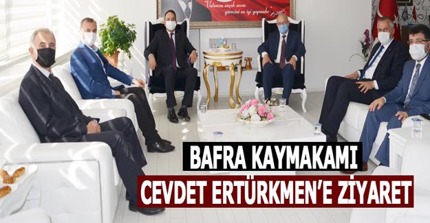 Bafra Kaymakamı Cevdet Ertürkmen'e Ziyaret