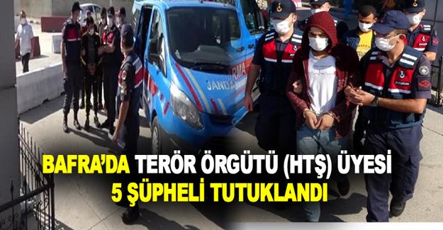 Bafra'da Terör Örgütü (HTŞ) Üyesi 5 Şüpheli Tutuklandı