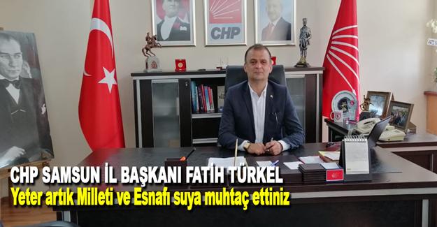 Chp İl Başkanı Fatih Türkel SASKİ eleştirisi