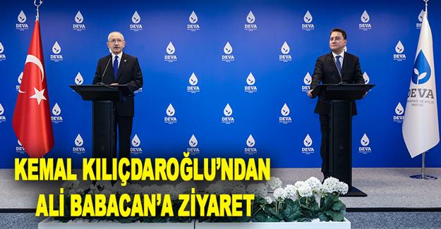 Kemal Kılıçdaroğlu'ndan Ali Babacan'a Ziyaret