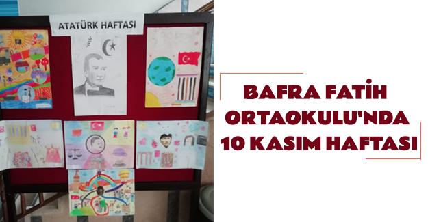 Bafra Fatih Ortaokulu'nda 10 Kasım Haftası