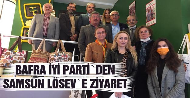 Bafra İYİ Parti`den lösev`e ziyaret