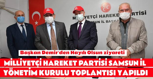 Başkan Demir'den MHP'ye Hayırlı Olsun Ziyareti