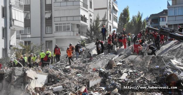 İzmir depreminden ölü sayısı yükseldi
