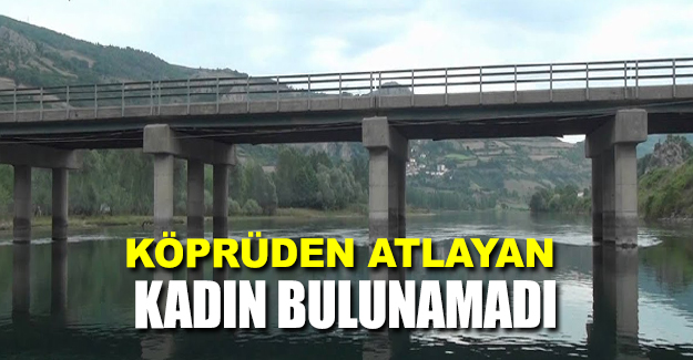 Bafra'da kadın köprüden atladı