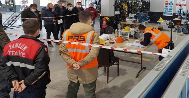 Samsun'da İtfaiye Personeline Eğitim
