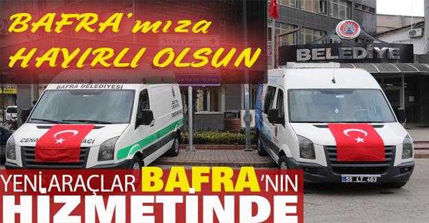 Yeni Araçlar Bafra'nın Hizmetinde