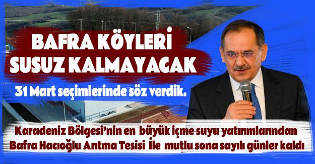 Bafra Hacıoğlu Arıtma Tesisi Gün Sayıyor
