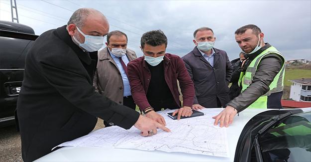 Canik Belediyesi, yol çalışmalarını sürdürüyor