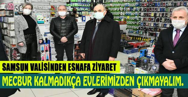 Vali Zülkif Dağlı, Esnafa ziyarette bulundu