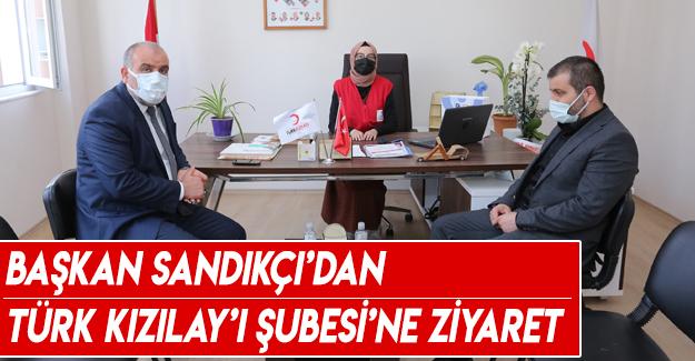 Başkan Sandıkçı'dan Türk Kızılay'ı Canik Şubesi'ne ziyaret