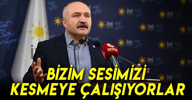 Erhan Usta: Bizim sesimizi kesmeye çalışıyorlar