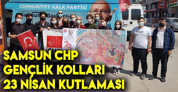 Samsun CHP gençlik kolları 23 Nisan kutlaması