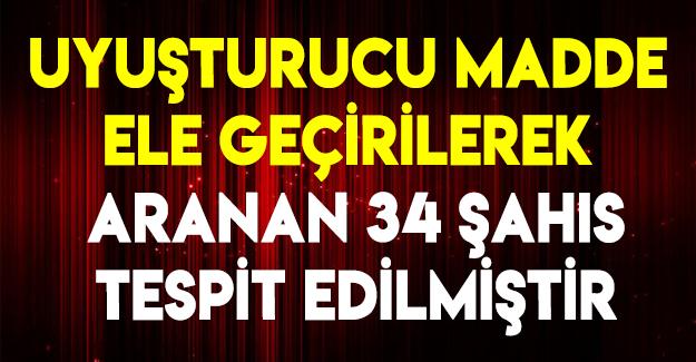 Samsun'da Aranan 34 Şahıs Yakalandı