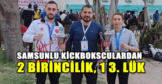 Samsunlu  kickbokscu`lardan 2 birincilik, 1 3. Lük