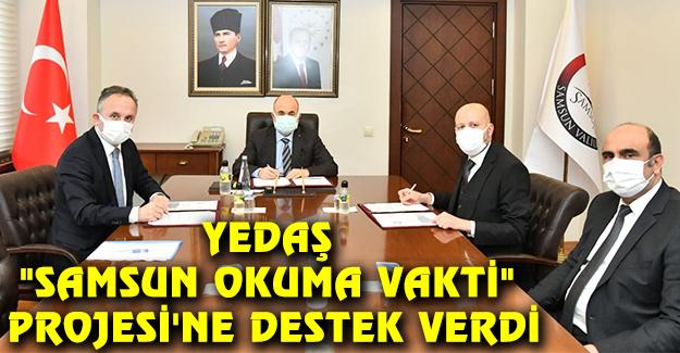 """YEDAŞ """"Samsun Okuma Vakti"""" Projesi'ne Destek Verdi"""