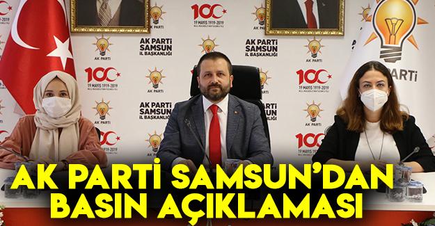 Ak Parti Samsun'dan Basın Açıklaması