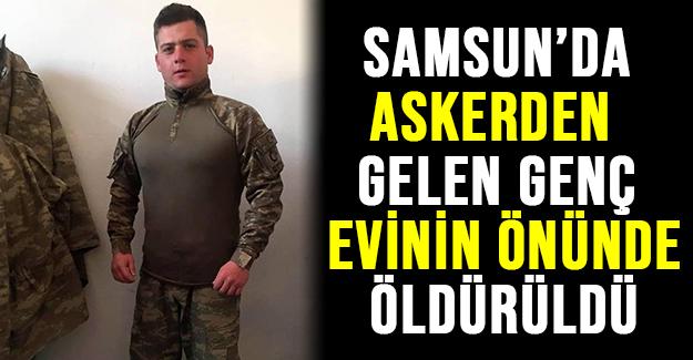 Askerden Gelen Genç Evinin Önünde Öldürüldü