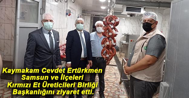 Kaymakam Ertürkmen Et üreticilerini ziyaret etti